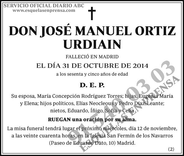 José Manuel Ortiz Urdiain